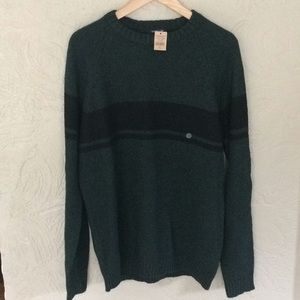 NWT American Eagle hunter green /black sweater-L